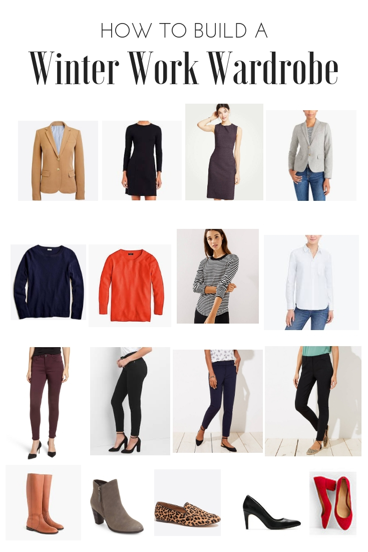 8868e4f897 How to Build a Wardrobe  Winter Work Style with 15 Outfit Options ...