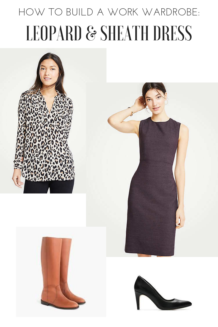 Capsule wardrobe: how to build a work wardrobe. 4 tops, 10 outfits.