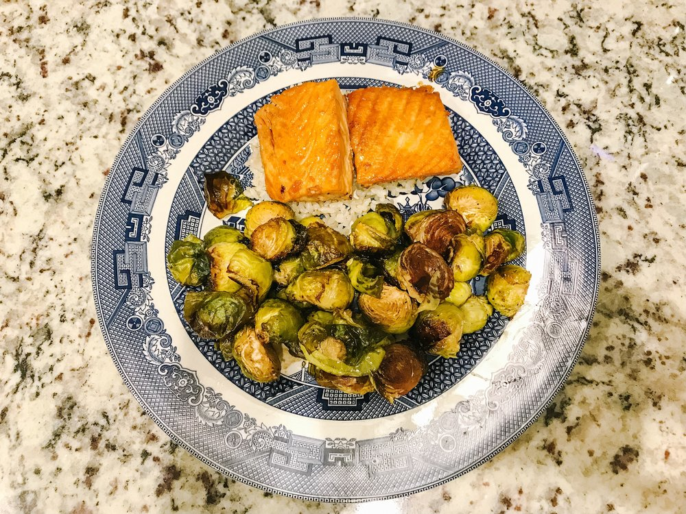 Healthy Lifestyle Food and Exercise Inspiration: Honey Lime Salmon with Brussel Sprouts and Brown Rice