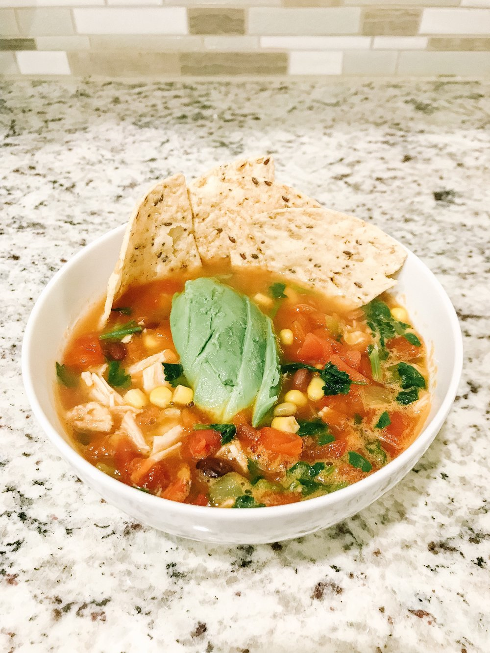 Healthy Cilantro Lime Chicken Soup
