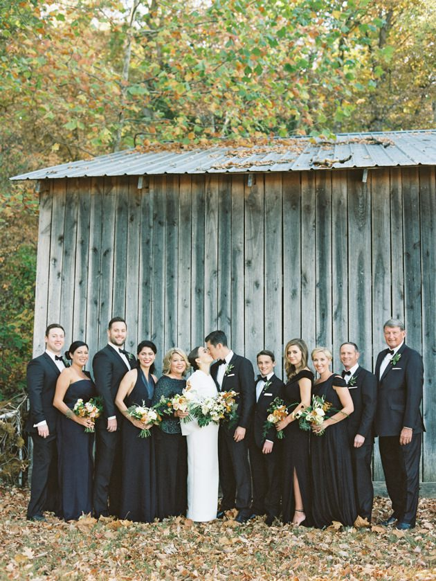 bridal-party-black-bridesmaids-gowns.jpg