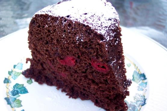 Chocolate Sour Cherry Bundt
