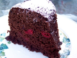 Chocolate Sour Cherry Bundt