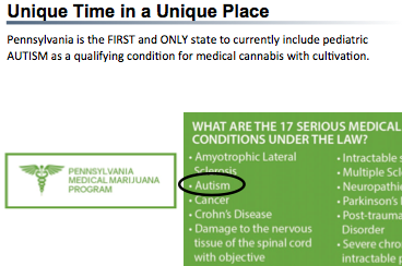Click here to learn more about Pennsulvania's Mediacl Marijuana Program