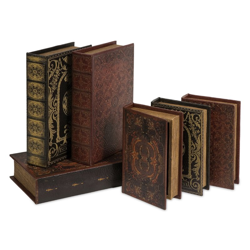6 Piece Monte Cassino Book Box Collection Set