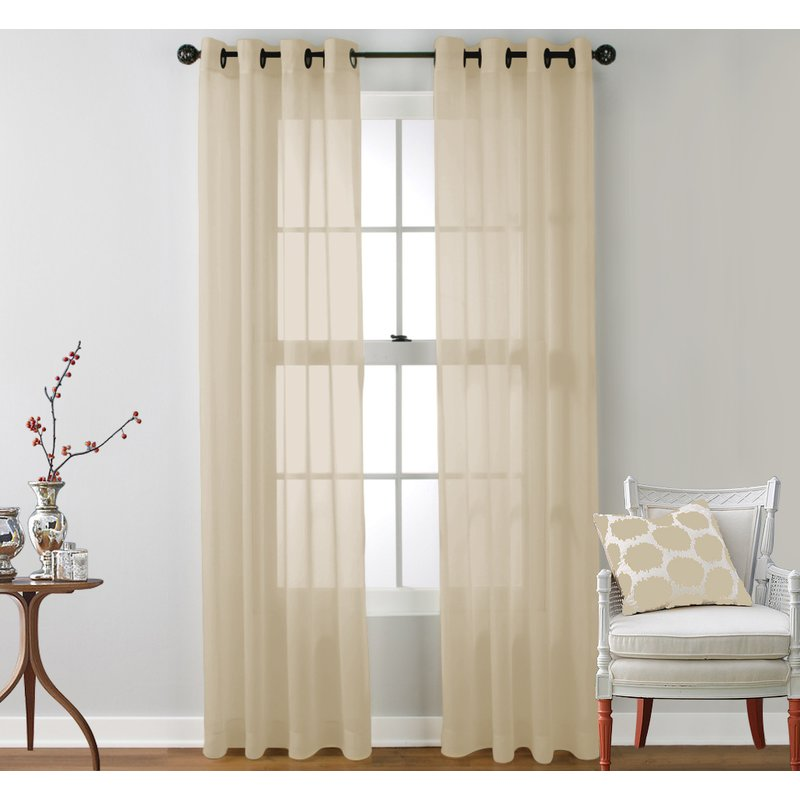 Caldera Sheer Solid Grommet Curtain Pane