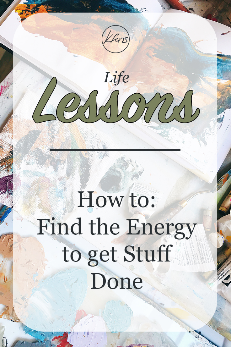 kfons - How to Find the Energy to Get Stuff Done