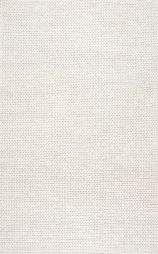Arviso Hand-Woven Wool Off White Area Rug