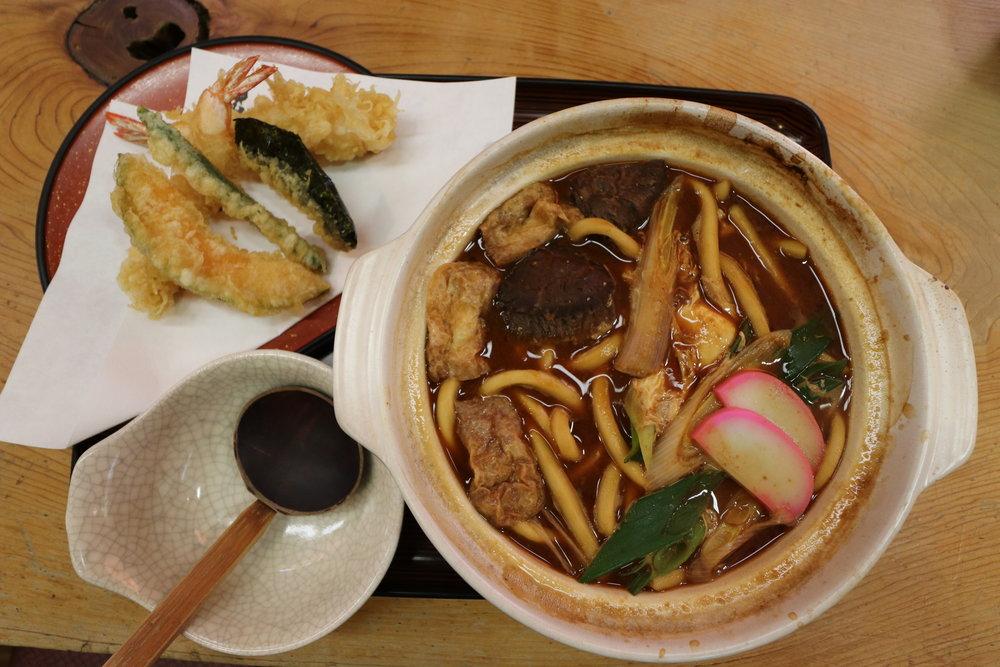 ¥1,100 Chicken Misonikomi Udon