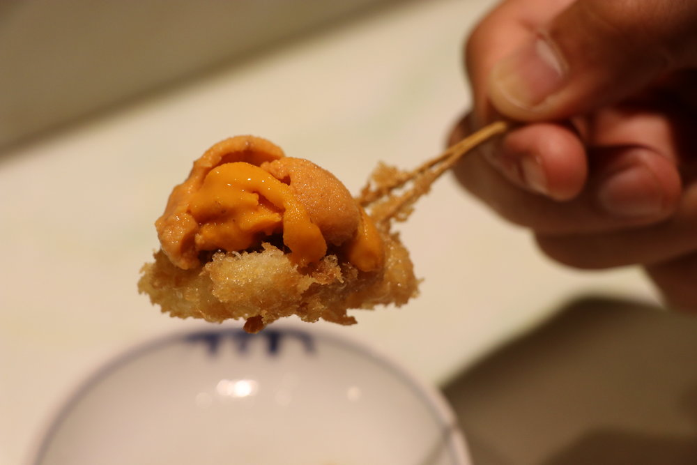 Squid with Uni on top