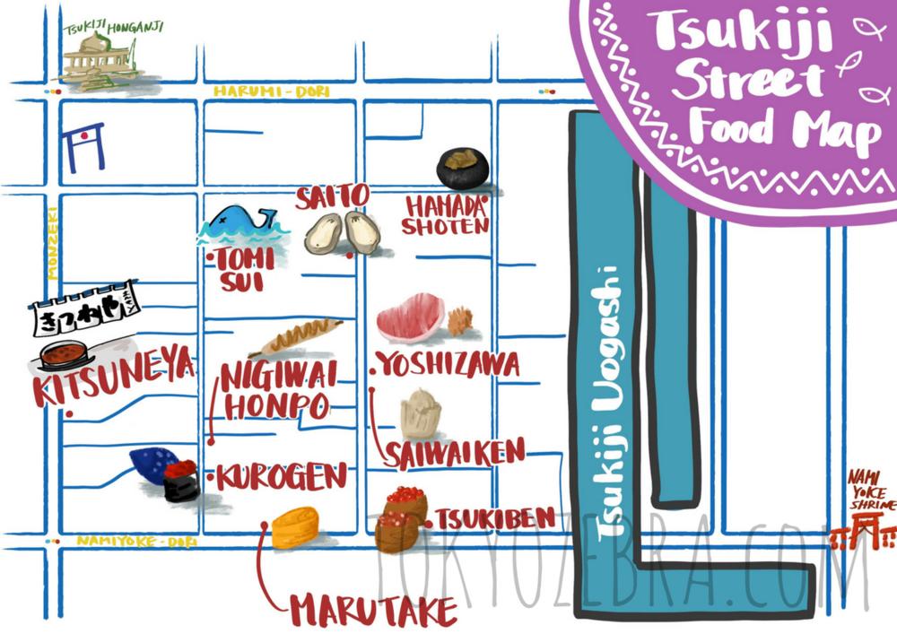 TSUKIJI MAP -