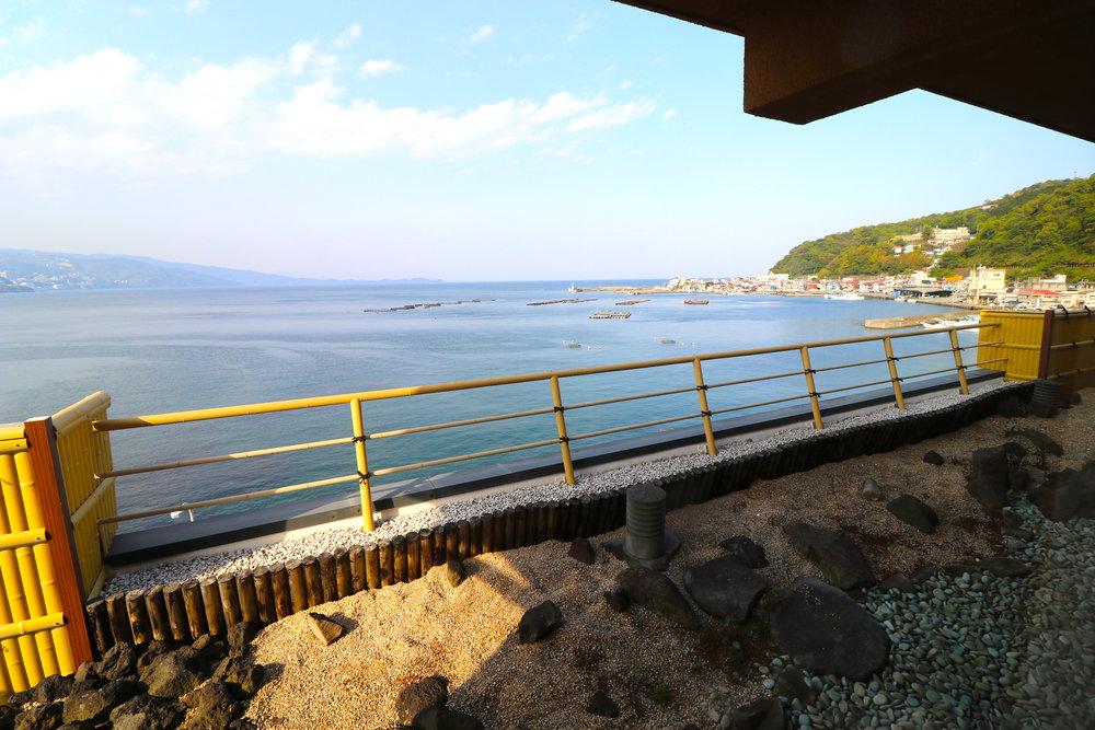 The view from the Kashikiri Onsen