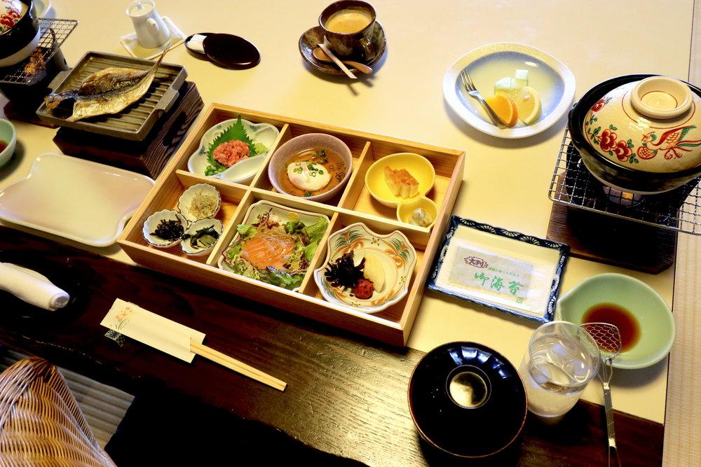 luxury onsen Tokyo FOod