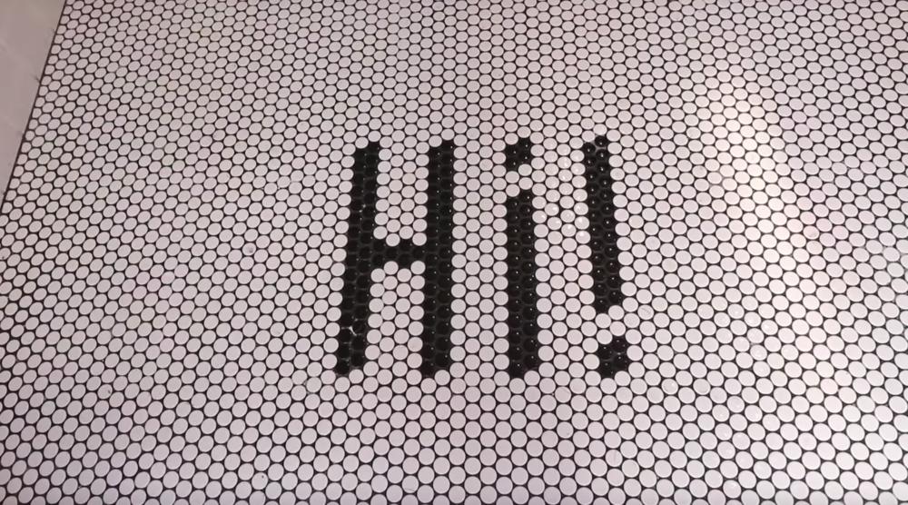 Instagramy entrance tile!