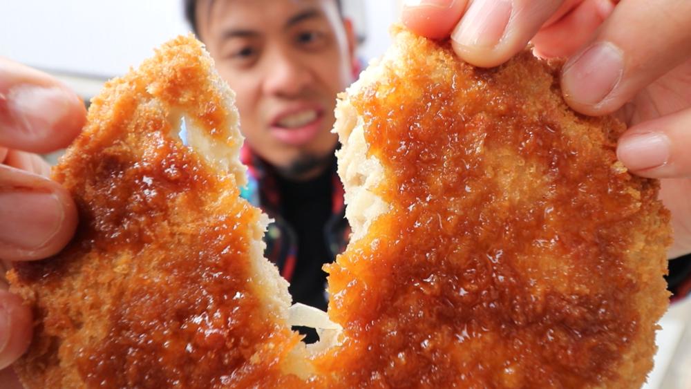 tokyo street food menchi katsu