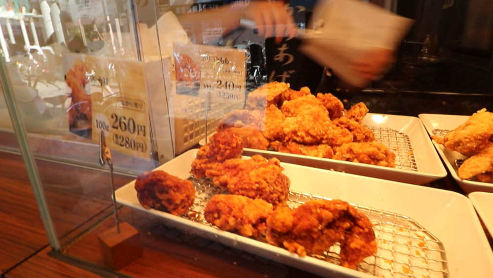 street food asakusa fried chicen