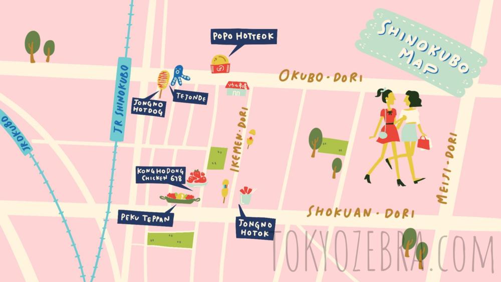 Shin Okubo Map -