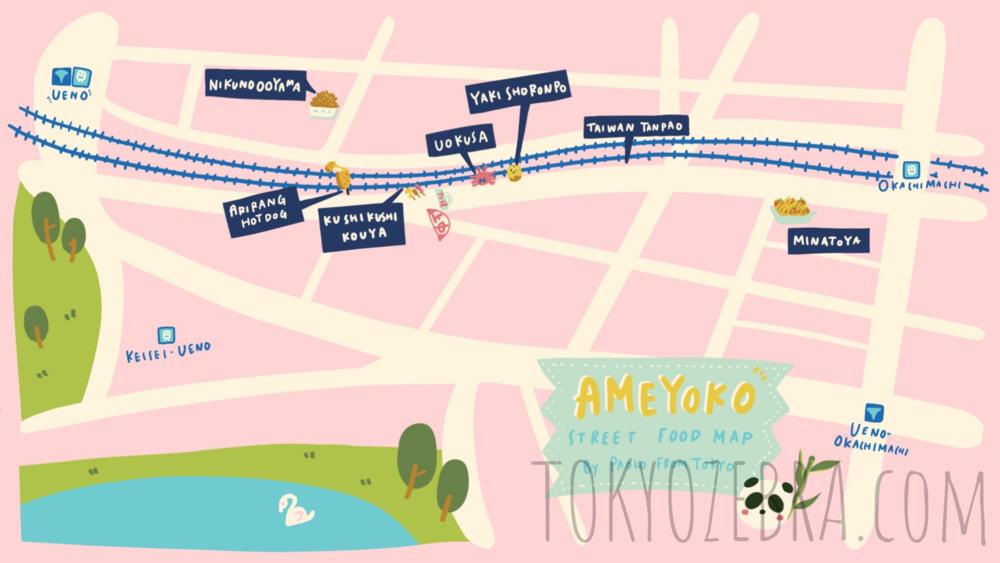 AMEYA YOKOCHO MAP -