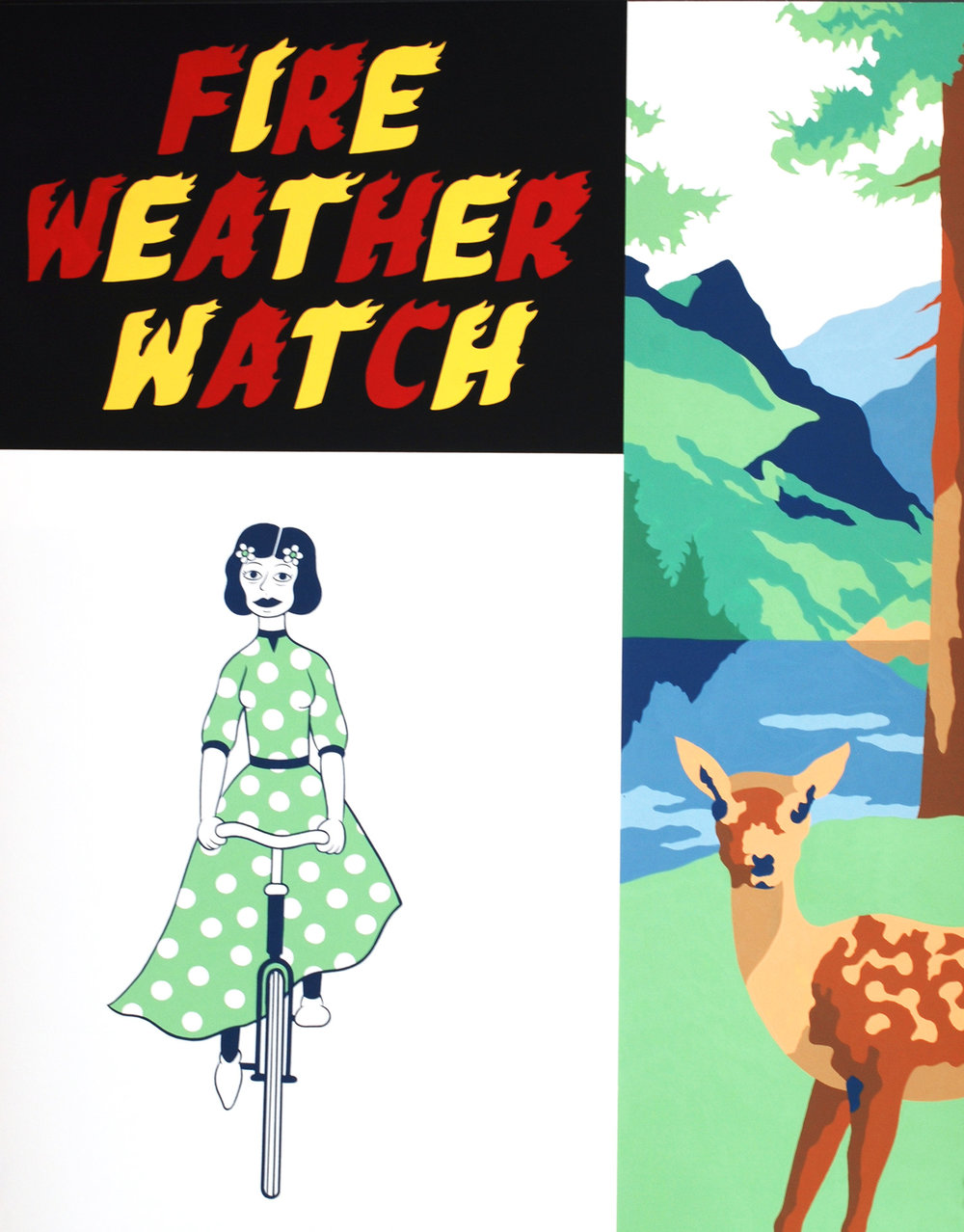 Fire Weather Watch   Gouache on paper, 21 X 16 in, 2013