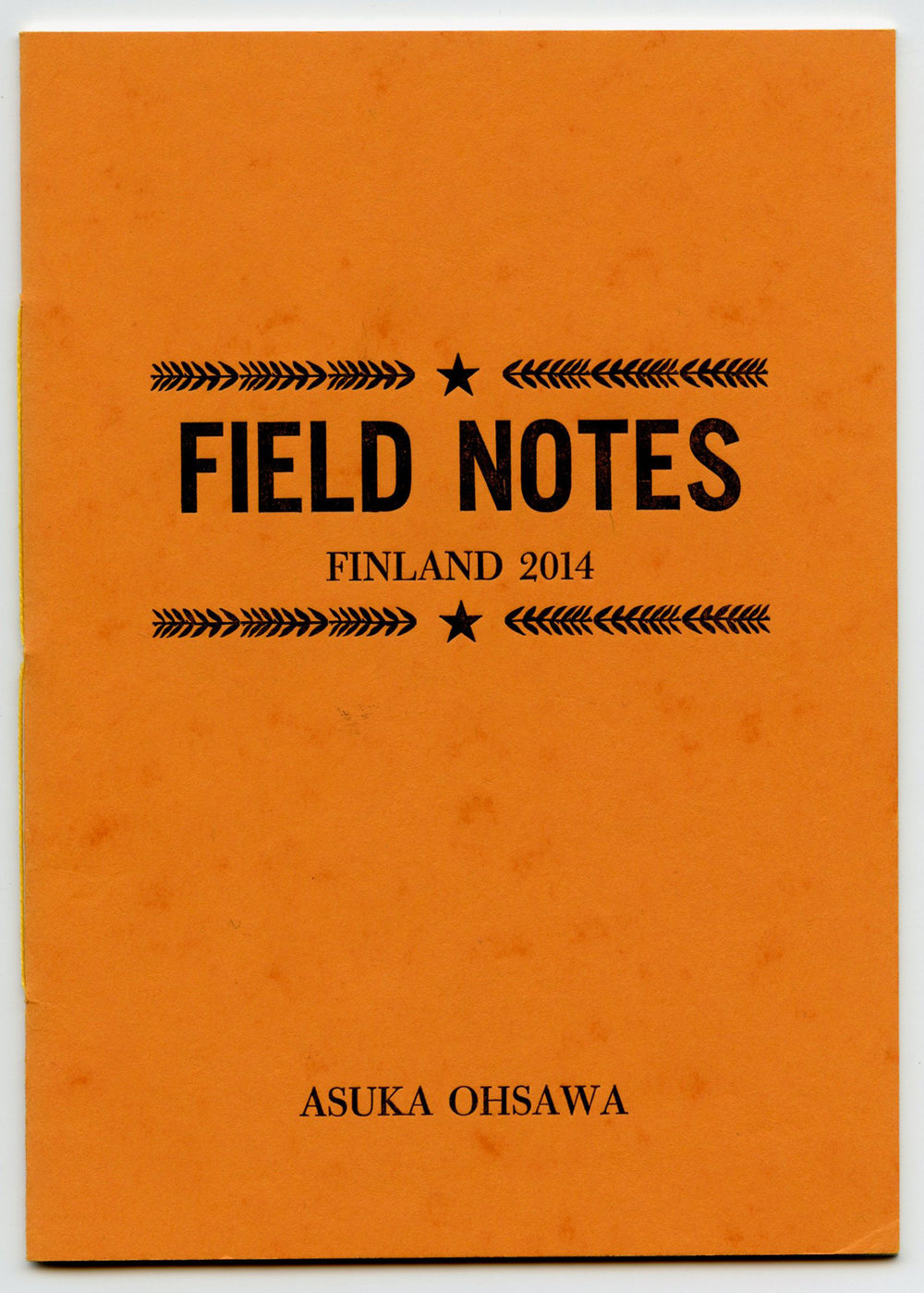 Field Notes: Finland 2014   Letterpress (handset type and linocut), 5 X 7 in. Edition of 33. 2014