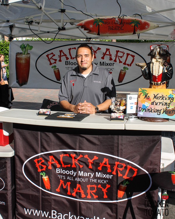 Backyard Mary booth at the Huntington Beach Farmer's Market