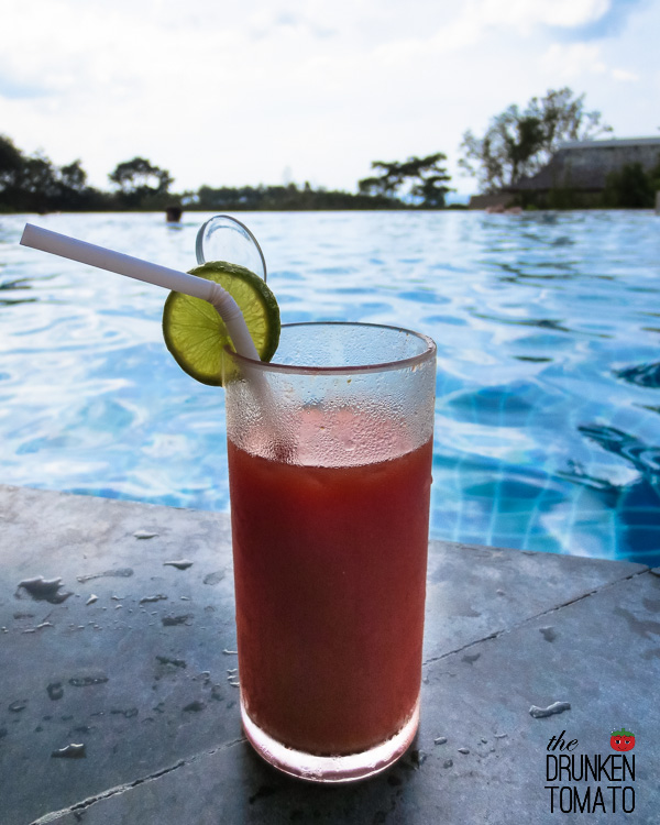 Poolside Bloody Mary at Avista Hideaway Resort & Spa, Phuket, Thailand