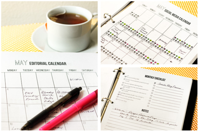 2015 Blog Planner and Editorial Calendar 2