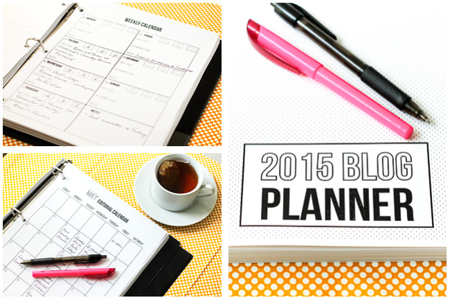 2015 Blog Planner and Editorial Calendar