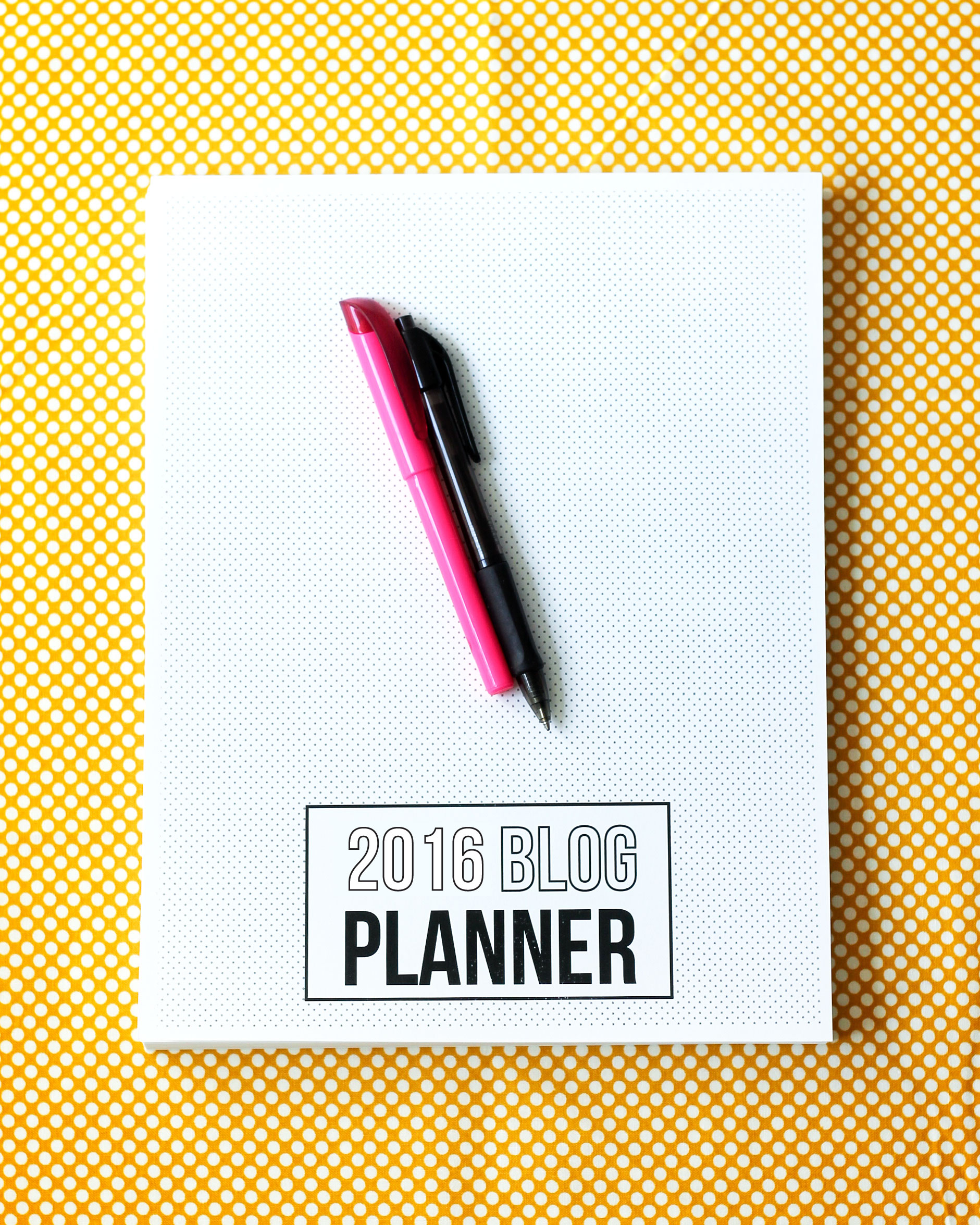 2016 Blog Planner and Editorial Calendar