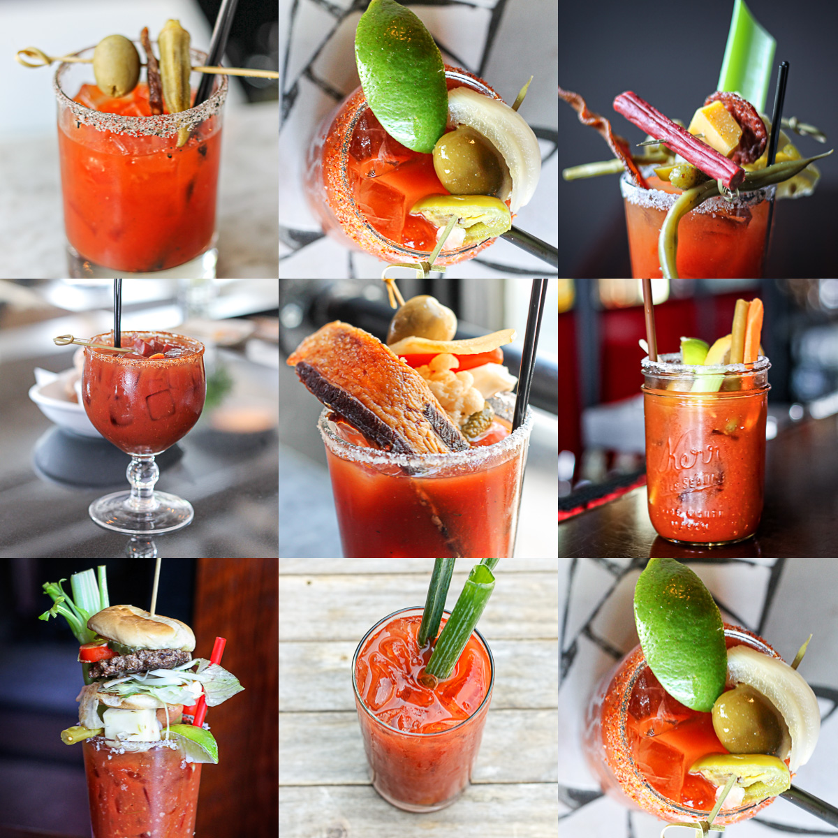Seattle Bloody Mary Collage