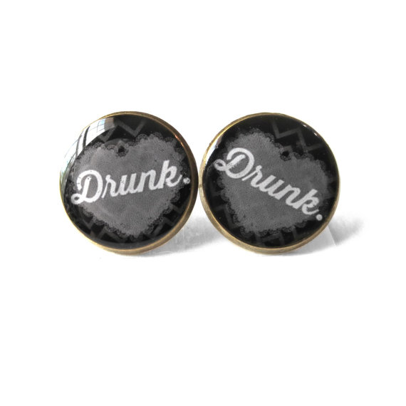 Drunk Earrings by SnarkFactory