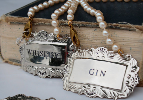 Liquor Tag Necklaces by Out of the Blue