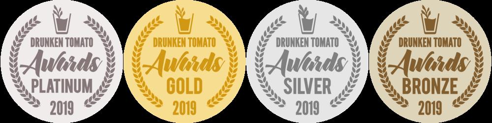 2019 Medals_Drunken Tomato Awards 2018 Medals.png