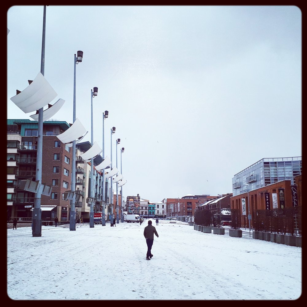 Snow day in Smithfield Square