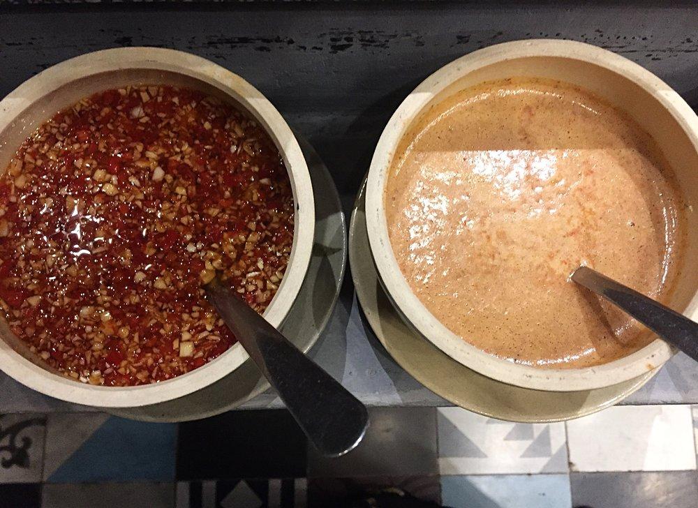 Homemade peanut sauce