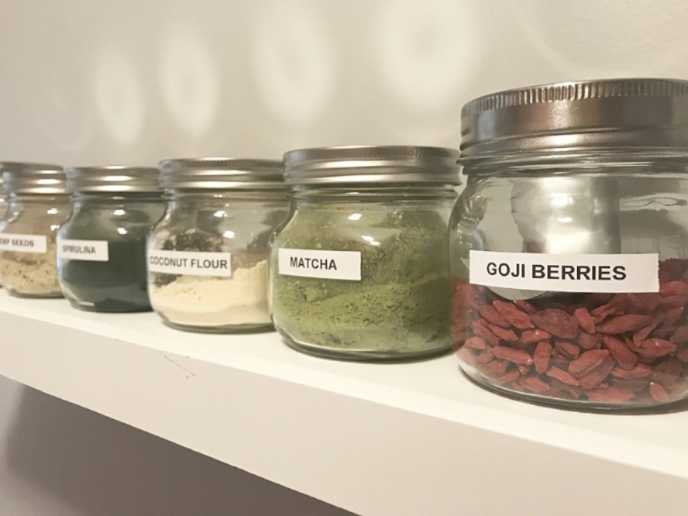 My superfood smoothie shelf