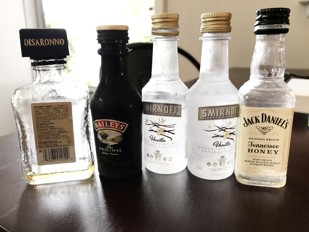 Recycle mini alcohol bottles