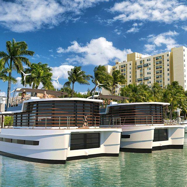Vivez à Miami sur votre maison Kayflô  #houseboats #kayflo