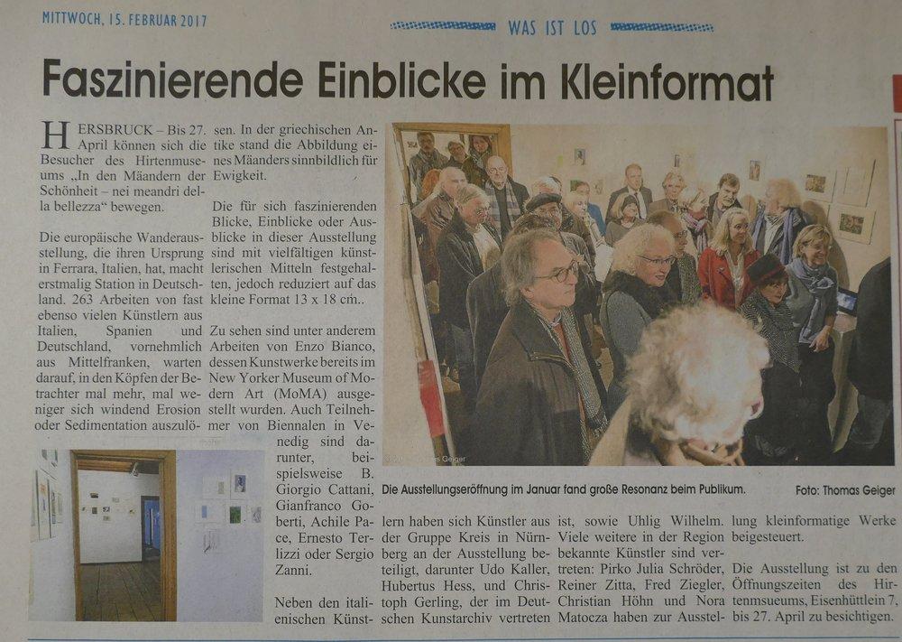 Bericht im WIP, Hersbruck, Foto: Thomas Geiger
