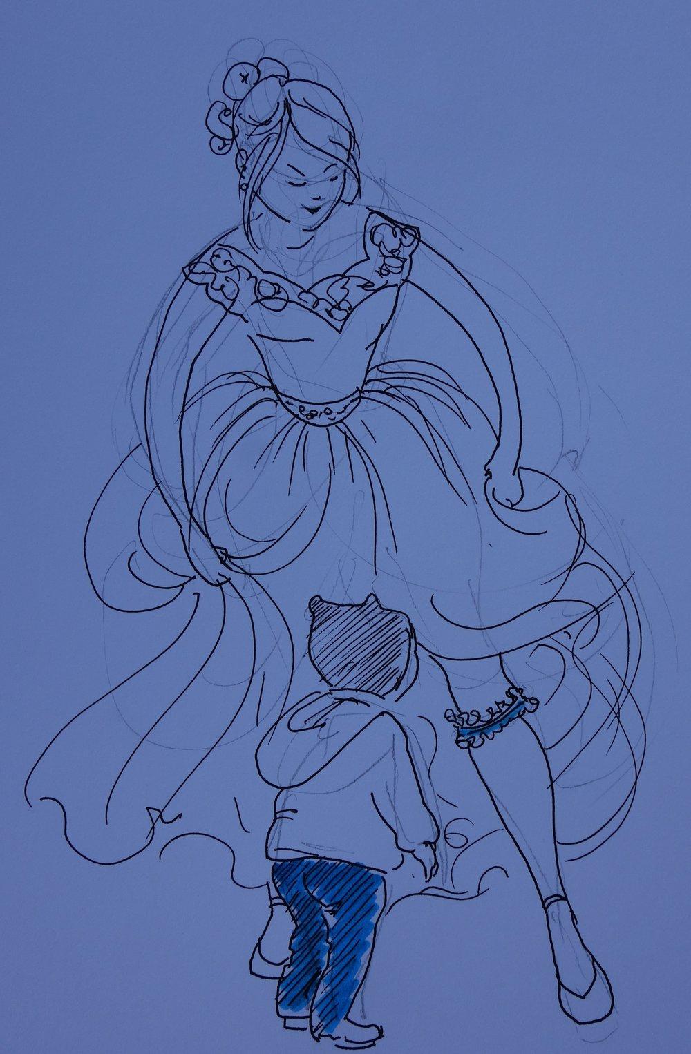 """Der junge Mann erhaschte einen Blick auf """"etwas Blaues"""" der Braut. Das warf ihn buchstäblich um..."""