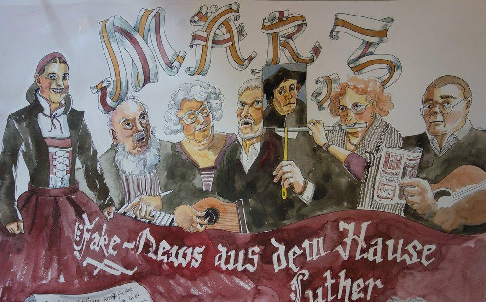 Luther-Singspiel im März mit der HEB-Musik