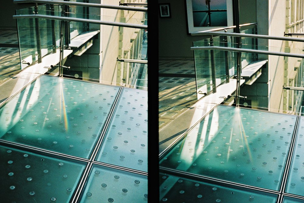 Gallery floor - olympus PEN half frame composition