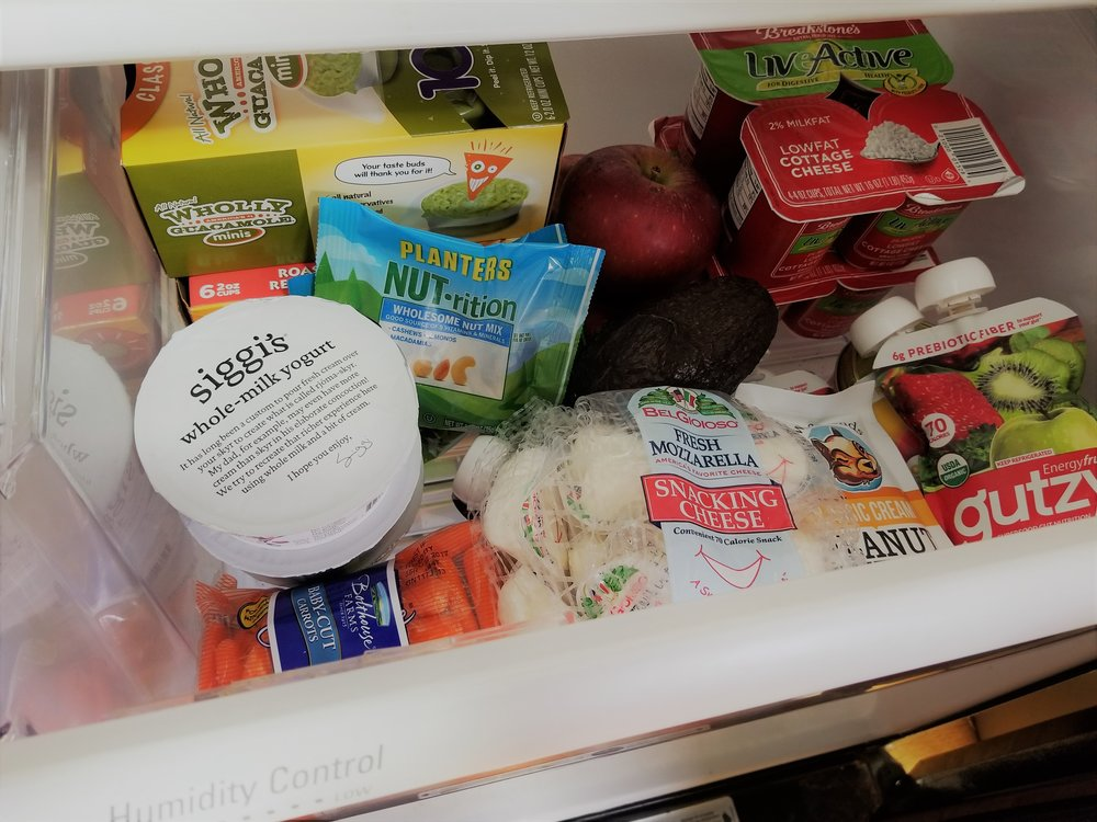 """My daughter's """"special"""" snack drawer."""