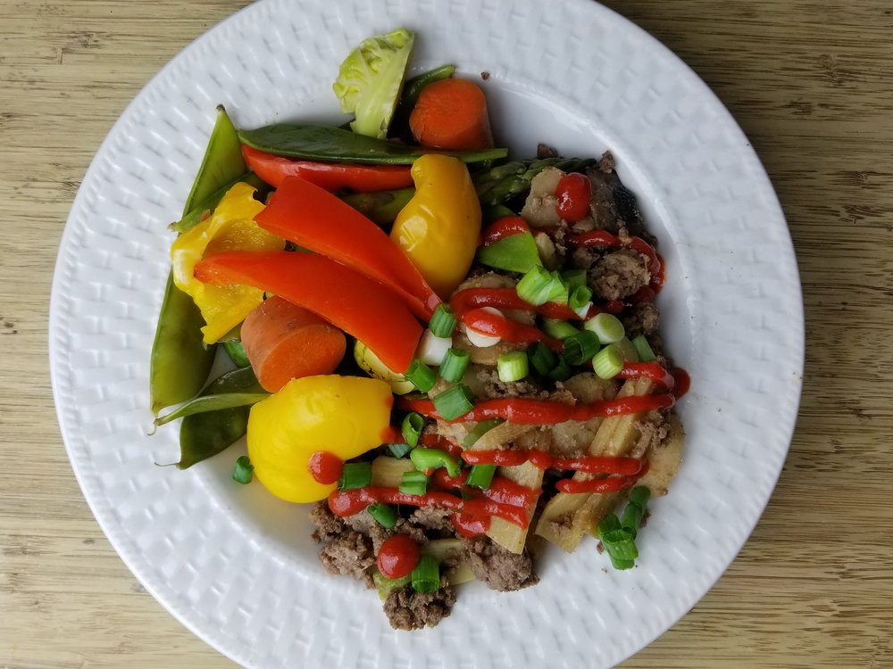 One of my favorite ways to use leftover ground meat: Easy Peasy Korean Beef and Veggies!
