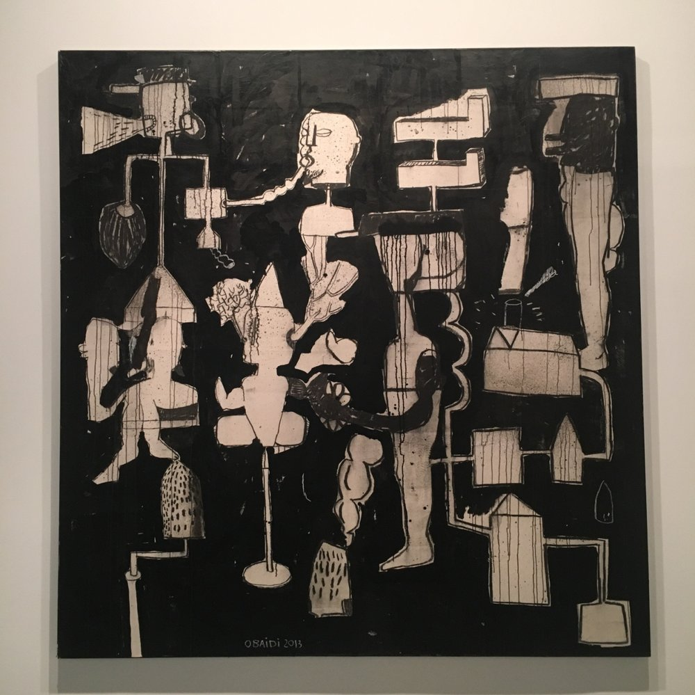 "Mahmoud Obaidi, ""Make War Not Love,"" 2013-2015, Mixed Media on Canvas"