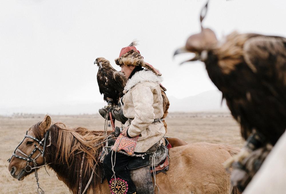 Беркутчи. Охотникив Монголии.