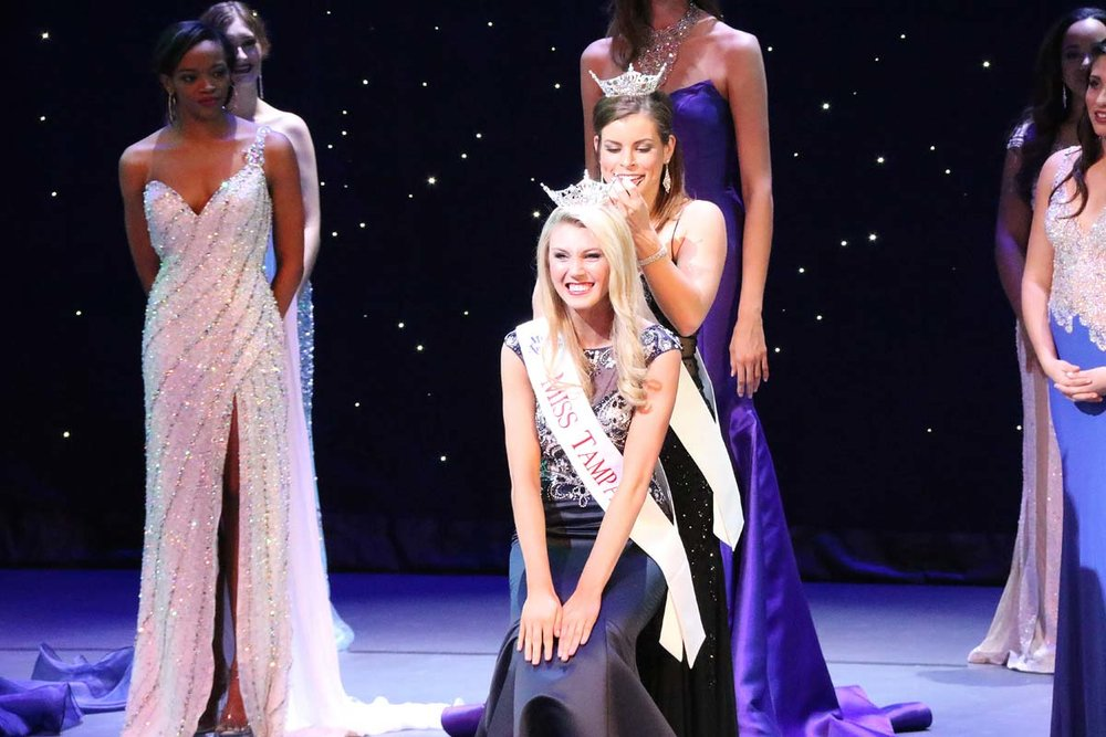 Miss Tampa 2016 crowning of Morgan Boykin