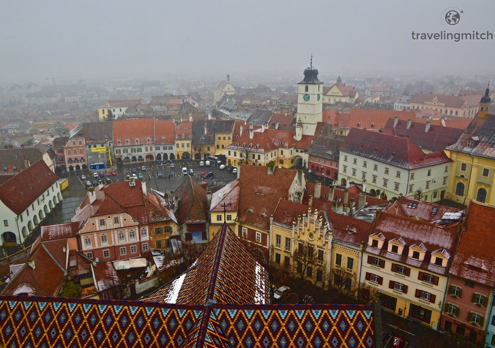 Views from the Church Tower, Sibiu, Romania
