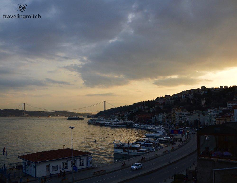 Sunset in Arnavütköy, Istanbul, Turkey