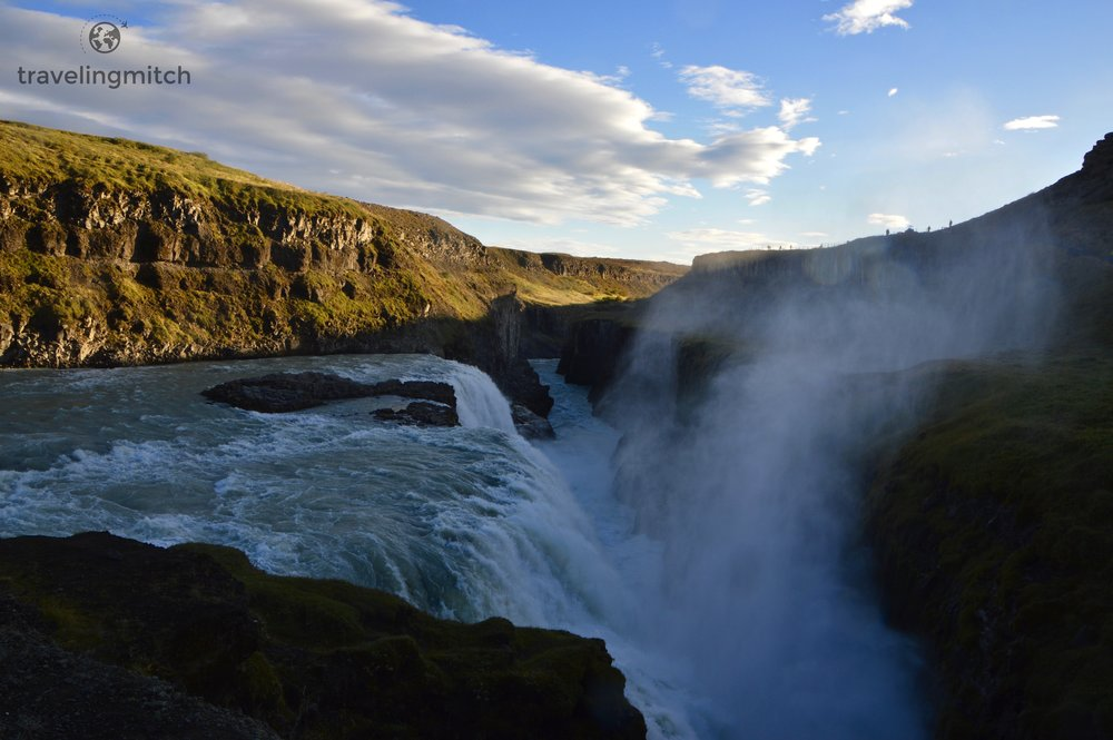Gullfoss Waterfall in Iceland. Mythical creatures run amuck.